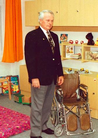 IP Donald E. Banker na návštěvě v Nadaci Naše dítě
