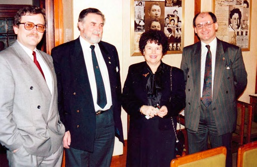 Alex Koenigsmark, prezident LC Praha Kampa, Ernst Musil, Mrs. Bankerová a Vojtěch Trapl