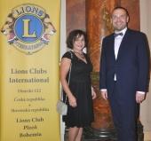 Prezidentka klubu L.Brodzianská s náměstkem primátora M.Baxou