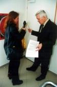 PhDr. Petr Koutný, člen LC Praha - Hartig se zástupkyní tisku